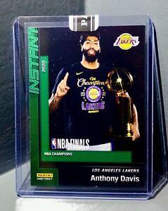 Anthony-Davis-2020-Panini-LA-Lakers-NBA-Champions-8-Green-Parallel-Card-10-10
