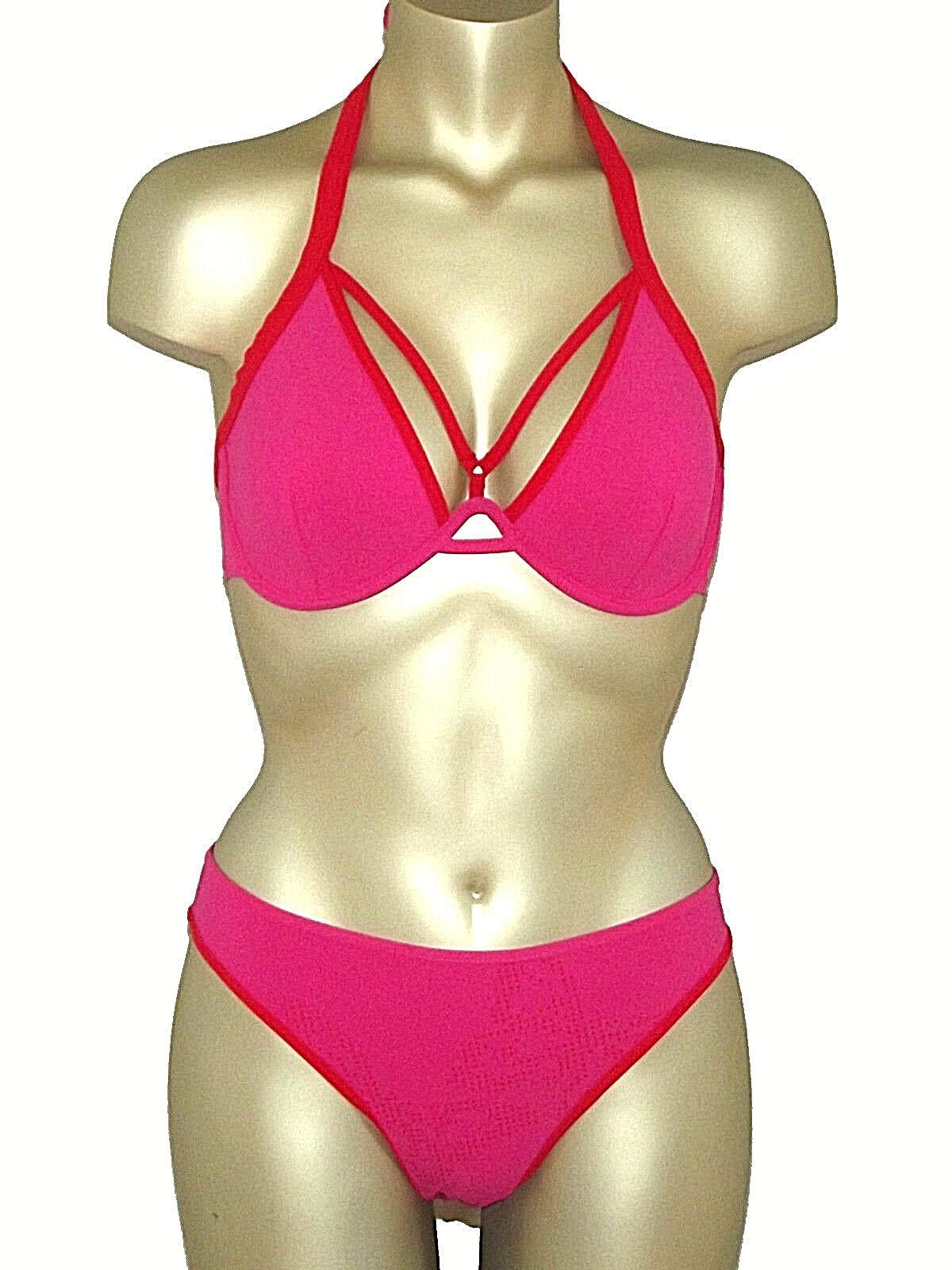 Marlies Dekkers sundressed Bikini-due divisori con con con allacciatura al collo 80c + SLIP S NUOVO 508f39