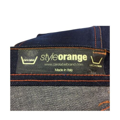 Care 100 Style Orange Italy Cotone Label Uomo In Jeans Made Antifit WwgnrgxOY