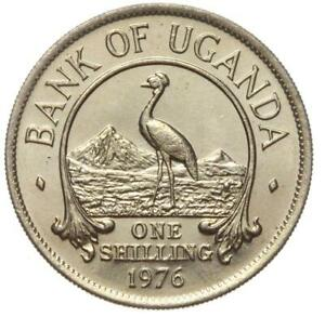 Bank-of-Uganda-Muenze-1-One-Shilling-1976-Stempelglanz-UNC
