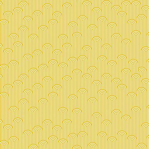 By 1//2 Yard ~ Tula Pink ZUMA ~ Tower 7 in Glowfish ~ Free Spirit Fabric Stripe