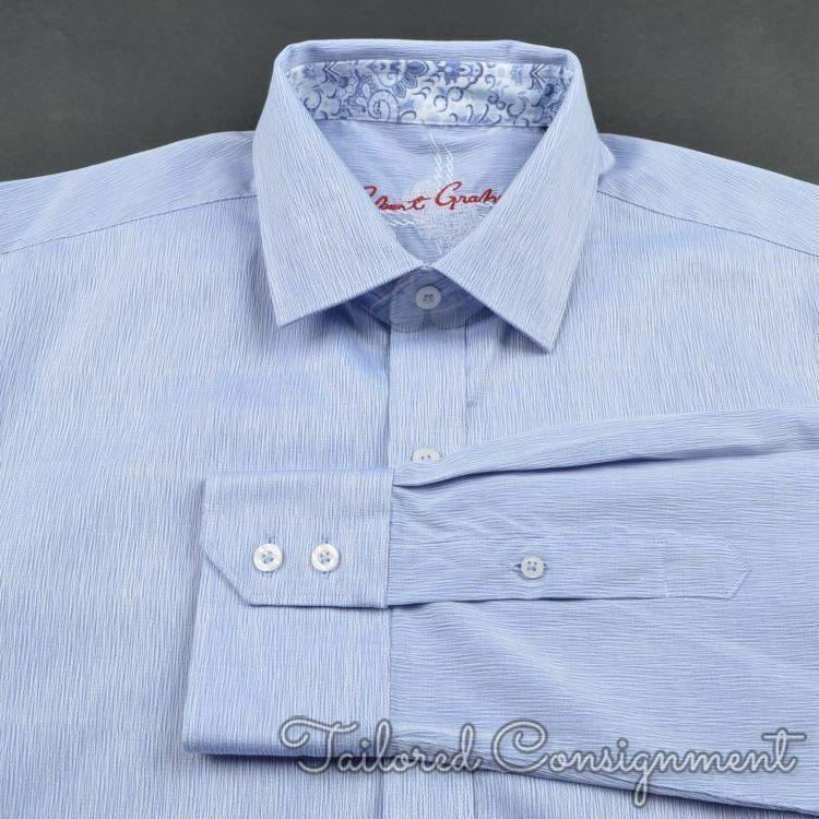 ROBERT GRAHAM Purple 100% Cotton Mens Casual Dress Shirt - LARGE