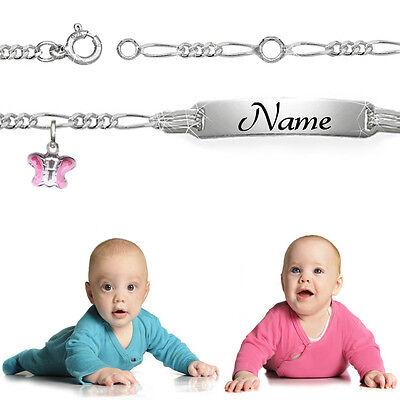 Ehrgeizig Kinderarmband Babyarmband Taufarmband Gravurarmband 925 Silber Jungen/mädchen 12