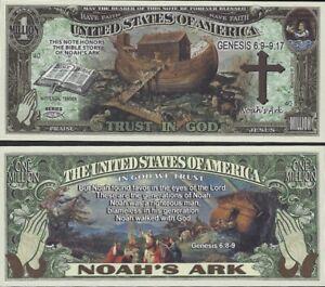 new-Noah-039-s-Ark-Million-Dollar-Bill-Play-Funny-Money-Novelty-Note-K-FREE-SLEEVE