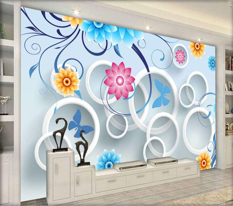 Vivid Liberal Rose 3D Full Wall Mural Photo Wallpaper Printing Home Kids Decor