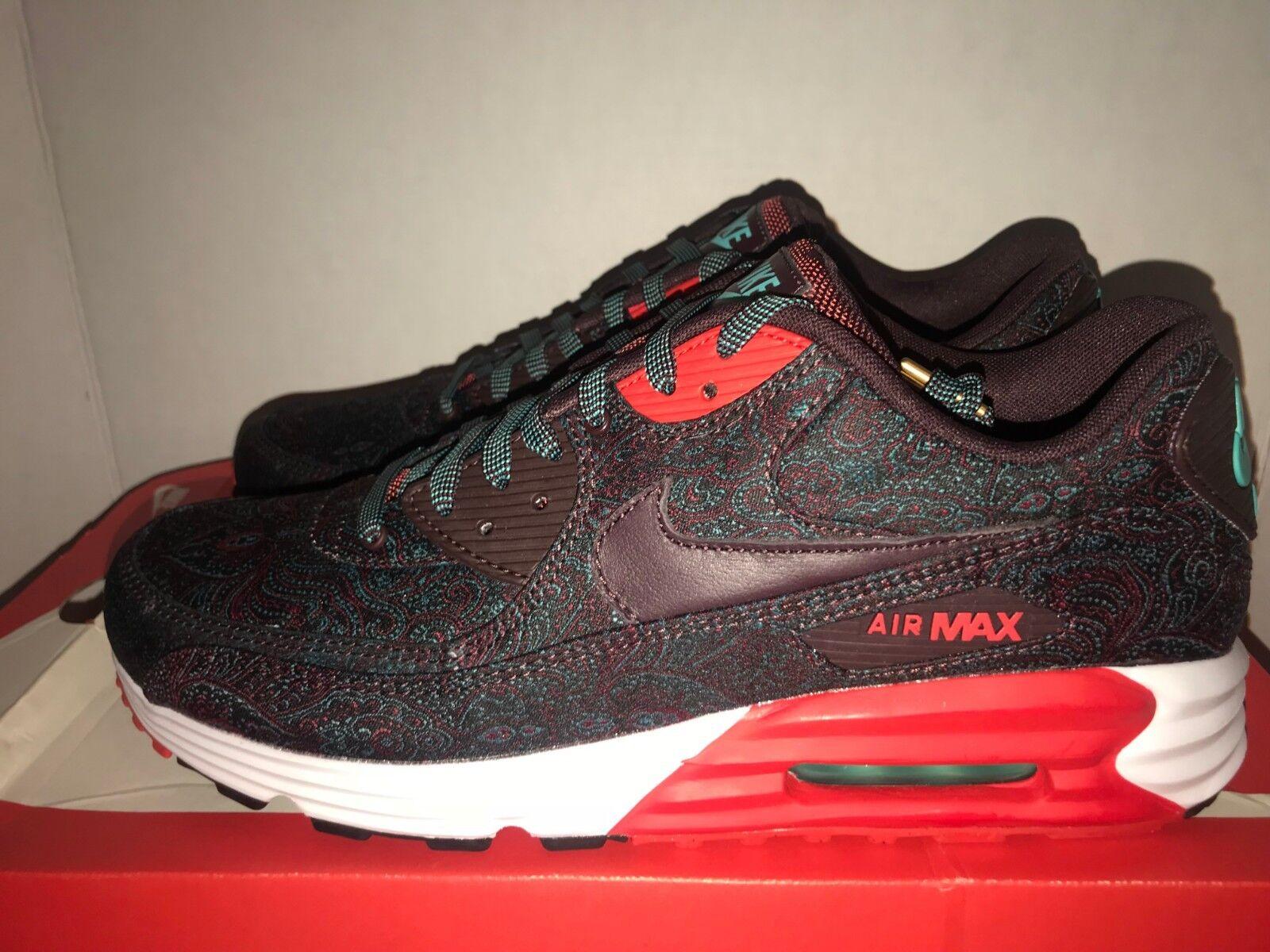 Nike Air Max Lunar 90 PRM QS Men's Size Size Size 11 DS 705068 601 Suit & Tie Paisley ca6da5
