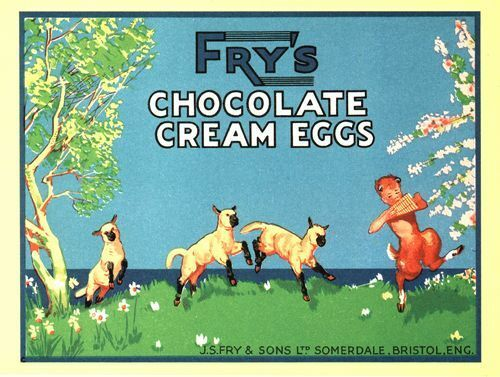 Vintage Frys Chocolate Cream Eggs Advertisement  Poster A3//A2 Print