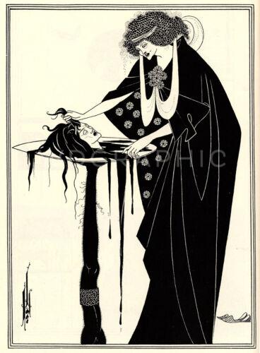 The Dancer/'s Reward 1894 Salome by Beardsley Vintage Giclee Canvas Print 20x27