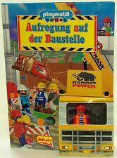 AUFREGUNG AUF DER BAUSTELLE Playmobil POP-UP BUCH + FIGUR von 1999 RARITÄT !!!