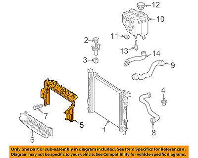 Genuine Mercedes Radiator Upper Baffle Air Duct OE 2125052930