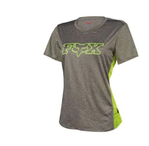L Fox Racing Mountain Bike Womens Indicator Short Sleeve Jersey Graph//Yellow