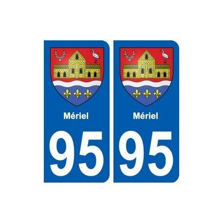 95 Mériel blason autocollant plaque stickers ville -  Angles : arrondis