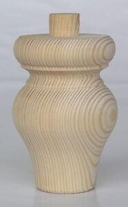 "120mm 5/"" Wooden Feet CHOOSE QUANTITY A4TFS Spigot 83mm Large Pine Tulip Foot"
