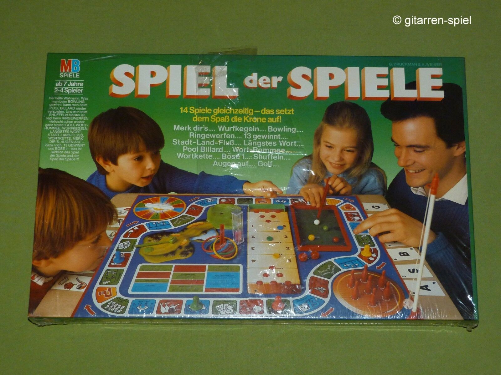 Spiel der Spiele von MB ab 7 Jahren Alte große Ausgabe ©1986 OVP in Folie