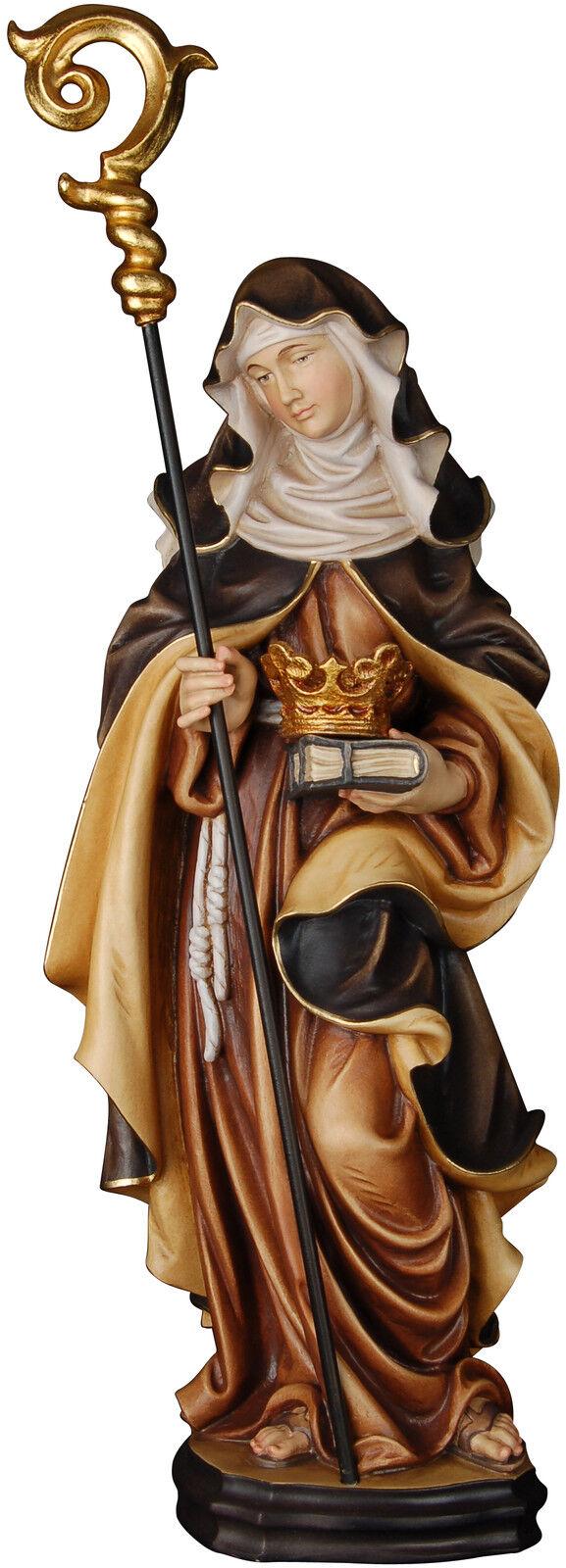 Irmgard HL. HL. HL. mit Krone Holzschnitzerei. santa Ermengarde mit Krone und Seelsorge | Perfekt In Verarbeitung  d94160