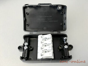 plastic electrical terminal junction box fused 4 pole push wire rh ebay co uk fused spur junction box fused junction box