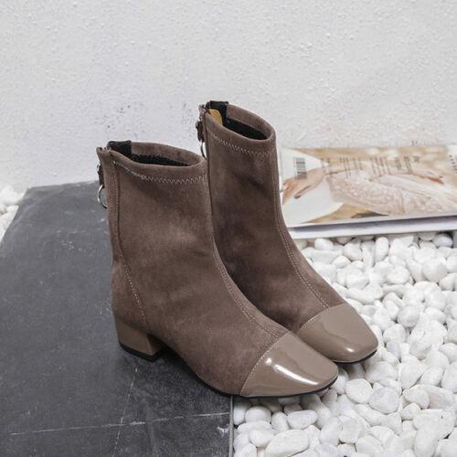 Beige Suede Boots 5 Leather Like 1621 Cm Elegant 4 Square rXwX4qOI6