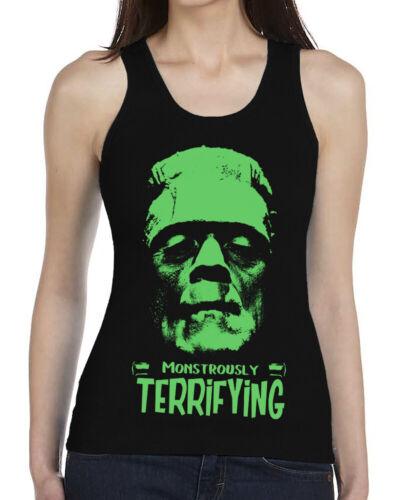 Noir Femme Gilet Frankenstein Halloween Monstre monstrueusement terrifiants