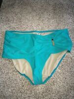 Swim By Cacique Gathered Swim Brief Plus Size 28 Caribbean Breeze $49.95
