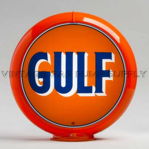 "G138 Gulf 13.5/"" Gas Pump Globe w// Orange Plastic Body"