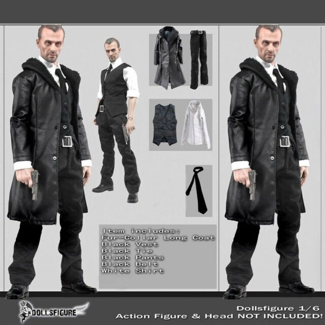 1//6 White Long Sleeve Dress Shirt for 12/'/' Hot Toys Male Action Figure