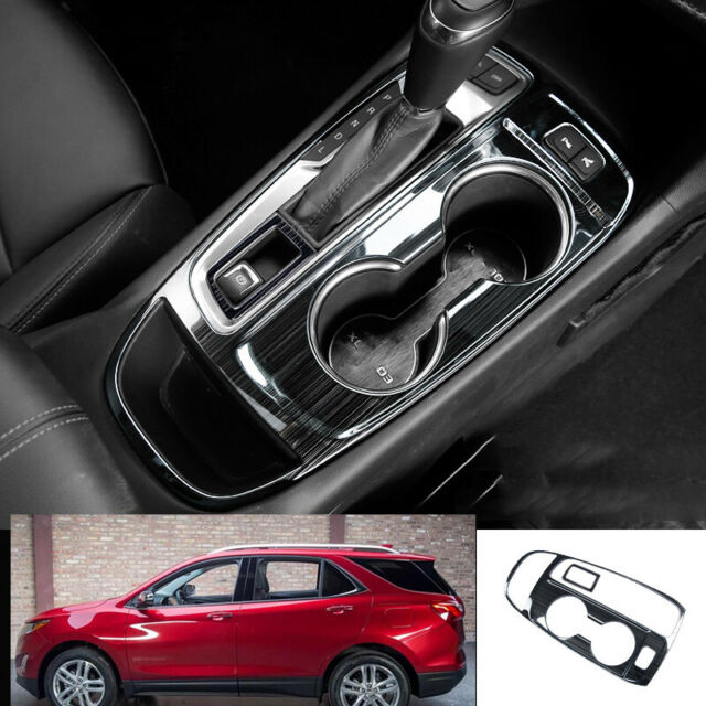 Black Stainless Central Cup Handle+Storage Mat For Chevrolet Equinox 3th 2017