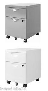 Schedari Per Ufficio Ikea.Ikea Erik Cassettiera Schedario 2 Cassetti Con Rotelle Ufficio Colore A
