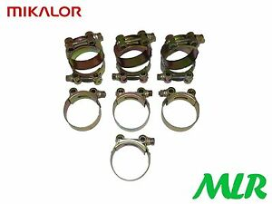 MIKALOR 86-91MM 3.5INCH HEAVY DUTY EXHAUST BOOST HOSE CLAMP PACK OF 10 MLR.LF