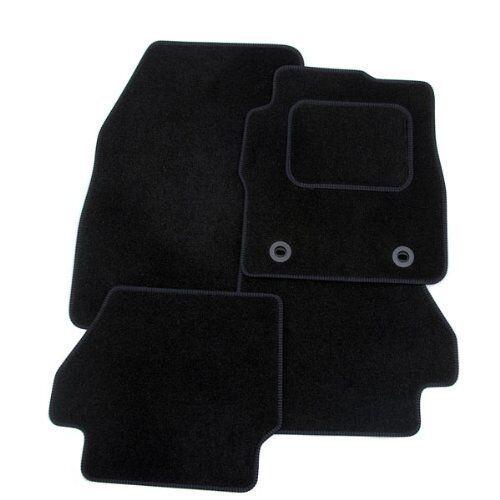 Eyelet Fixings Perfect Fit Black Carpet Car Floor Mats for Kia Sorento 02-09