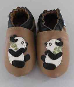 d0698fd963c943 Baby Toddler Boys Girls Soft soled Leather Shoes Panda Bear brown ...