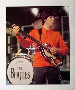 Image Is Loading Beatles Poster Paul McCartney Hofner Bass Guitar George