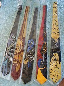 Burton Morris Saxaphone Red Silk Tie