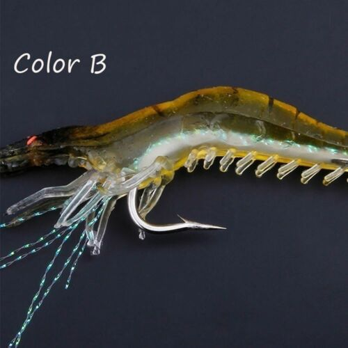 Soft Creative Shrimp Fake Bait Sea Fishing Prawn Lure Hook Worm Silicone