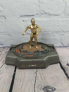 """Star Wars Titanium Series Die-Cast Figura de C3P0 5"""" por Hasbro. falta cúpula."""