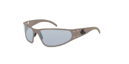 NEW Gatorz  WRACTN01 Wraptor Tan Frame Aluminum Sunglasses with Gray Lenses