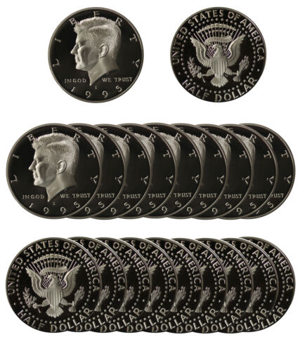 20 pcs 2004 Gem Deep Cameo Silver Proof Kennedy Half Dollar Roll