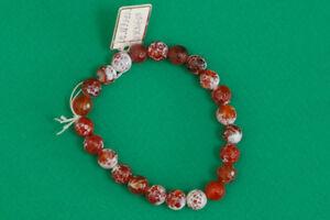Orange-Agate-Beaded-Bracelet-Handmade-Jewelry
