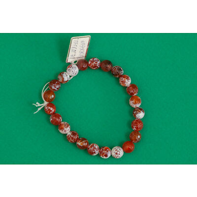Orange Agate Beaded Bracelet Handmade Jewelry