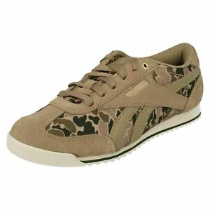 Ladies Reebok Casual Lace Up Ortholite Camo Trainers : Royal CL Rayen
