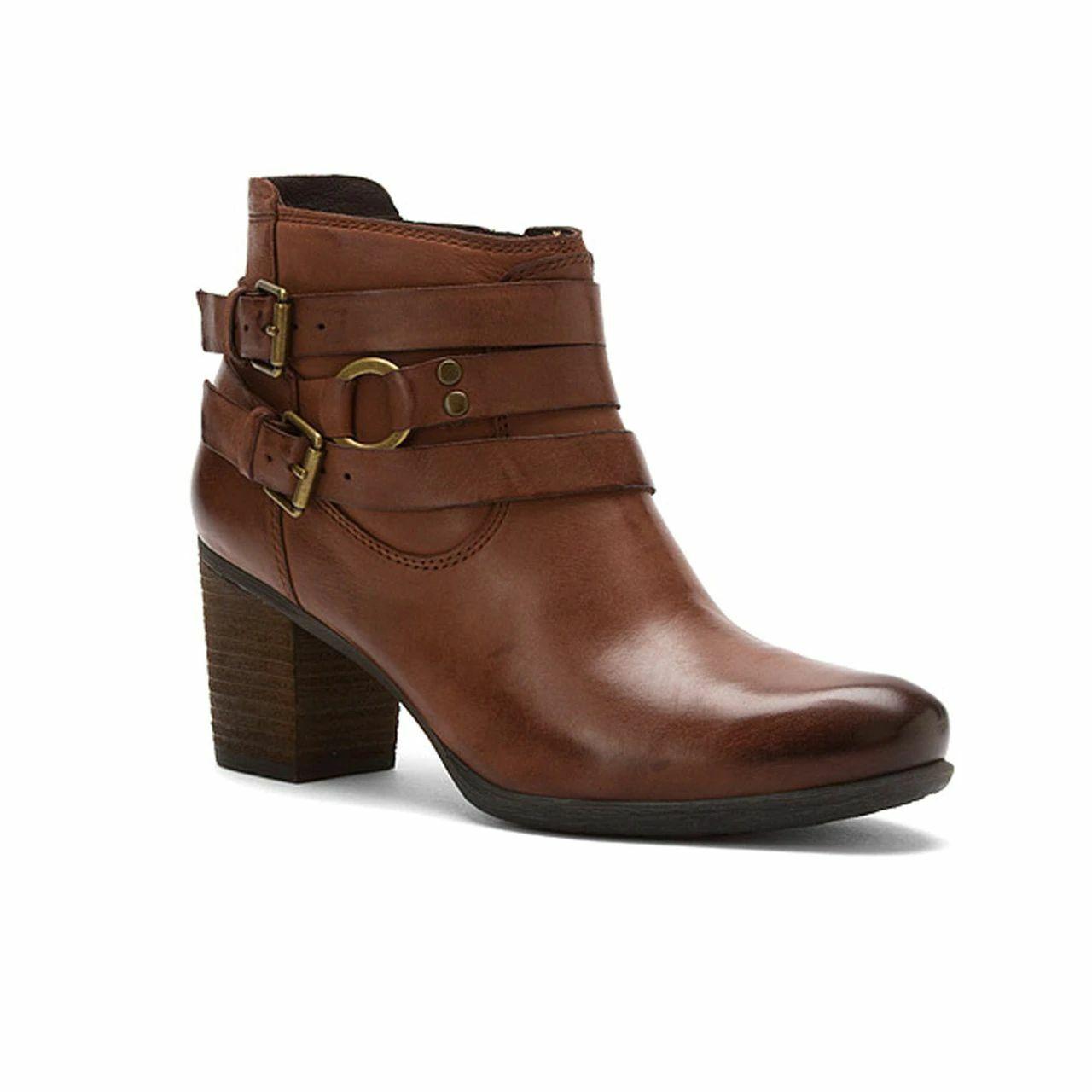 Josef Seibel-Britney Buckle Ankle Boots Sz 38 - image 1