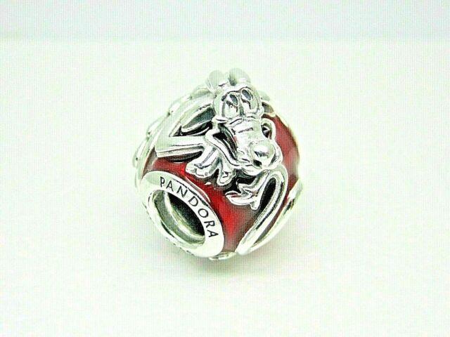 Authentic PANDORA Disney Mulan Mushu Enamel Charm 3d Wrapped Dragon  #798632c01