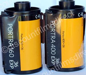 Kodak-Portra-160-amp-400-35mm-2-Film-Colour-Print-Film-Starter-Pack-1st-CLASS-POST
