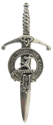 Premium SCOTTISH Clan Crest Kilt Pin Clans L-Y Robust /& Quality made in UK