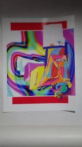 Dessin collage art contemporain brut singulier unique signé danseur somnambule