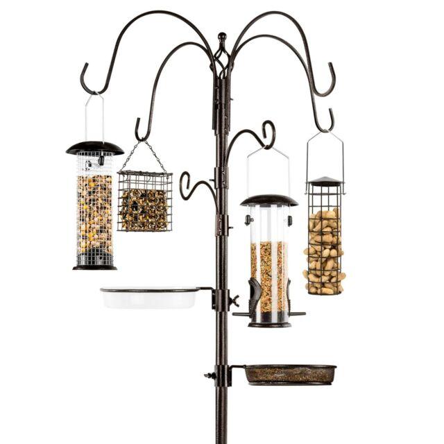 Bird Feeding Station Bronze Multi-Feeder Stand Wild Bird Feeder Squirrel Proof   eBay