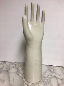 Vintage-15-Hall-9277-Glazed-Ceramic-Glove-Mold-Hand-Display