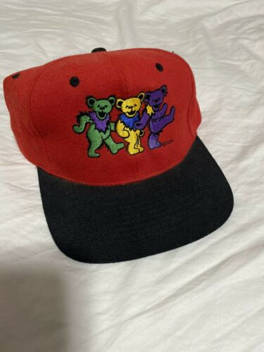 Vintage 1990s Greatful Dead Bears Snapback Hat Jer