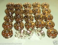 25 pcs. INDUSTRIAL SEWING MACHINE BOBBINS FOR Singer 491,95,96,188K,191,241,251,