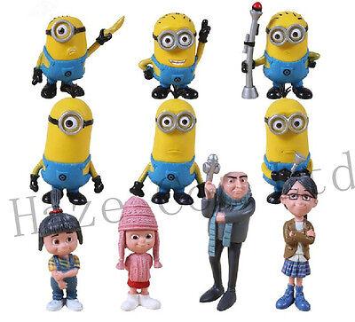 New Despicable Me 2 Figures Gru Minions 3 Girls  Gift Idea 10pcs Set