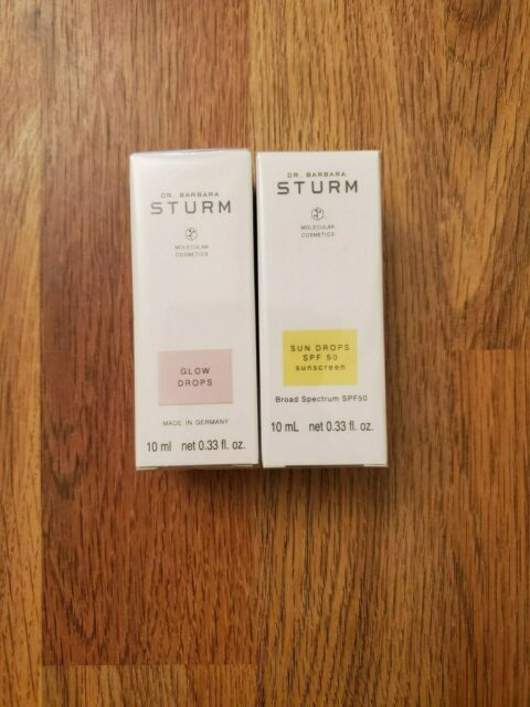 Dr. Barbara Sturm Molecular Cosmetics Glow & Sun Drops SPF50 Set10 ml each NEW